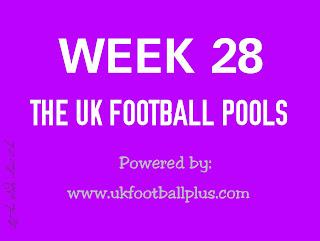 Week 28 UK football pools draws on coupon
