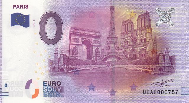 Numismática│Cédulas de Zero Euro são emitidas na Europa