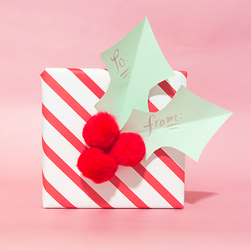 Happy Holly Gift Tag | LLK-C.com