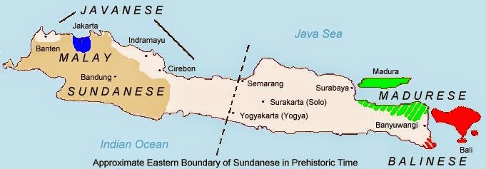 Languages Map Java-Bali in indonesia