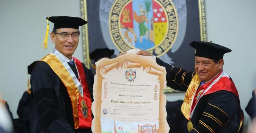 UNSCH: Universidad Nacional de San Cristobal de Huamanga otorga grado Doctor Honoris Causa al presidente Martín Vizcarra