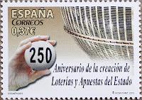 250 ANIVERSARIO DE LA CREACIÓN DE LOTERIAS  Y APUESTAS DEL ESTADO