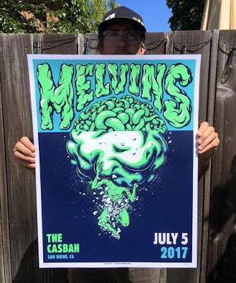 The Melvins rock poster with artist Daryll Peirce