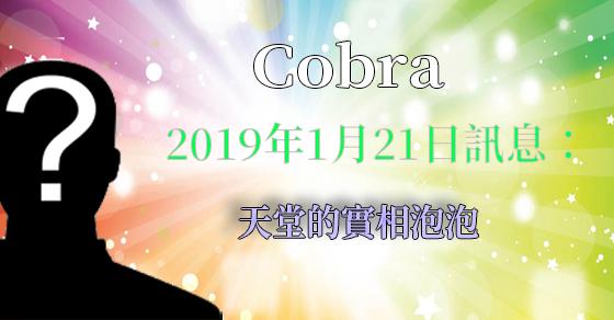 [揭密者][柯博拉Cobra] 2019年1月21日訊息:天堂的實相泡泡
