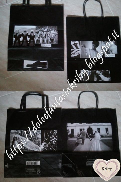 wedding bags versione maschile fai da te con decorazioni handmade personalizzate