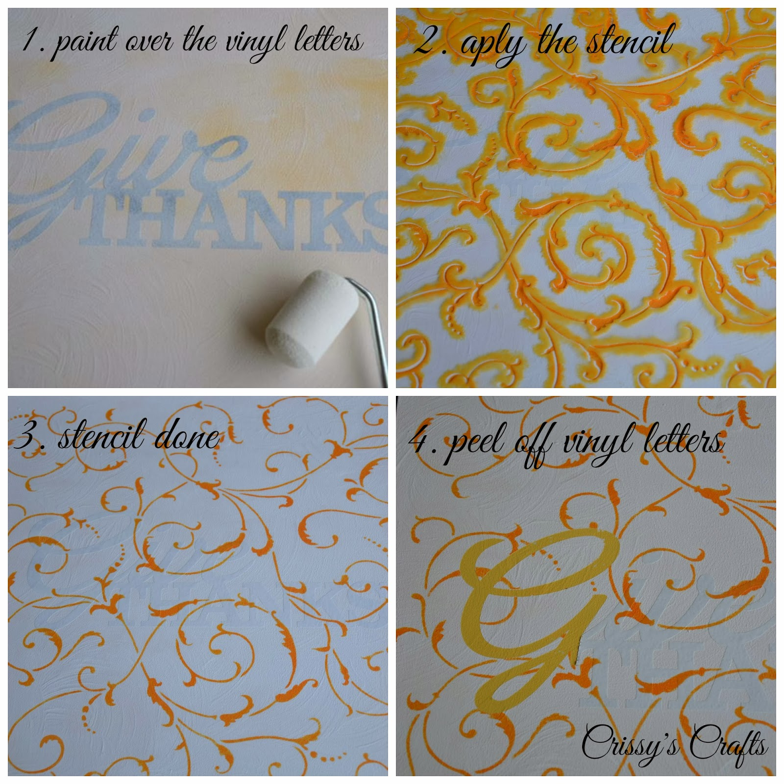 Crissy's Crafts: Give Thanks Wall Art