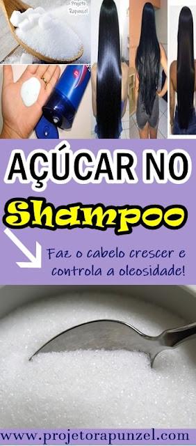 açúcar no shampoo cabelo crescer