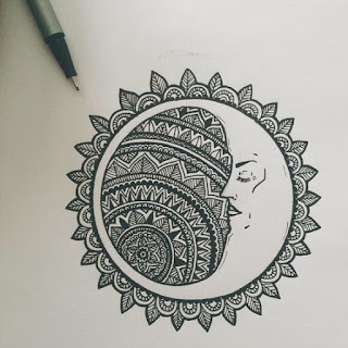 луна символ мехенди