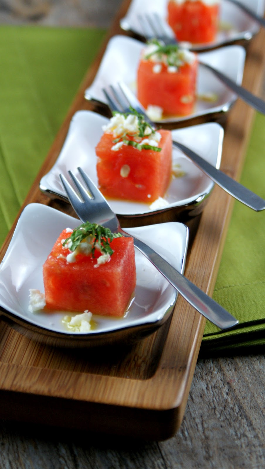 Authentic Suburban Gourmet: Watermelon Bites with Basil ...