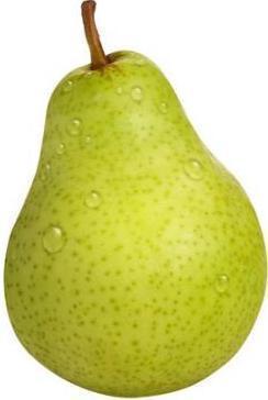 Foto de pera verde mojado