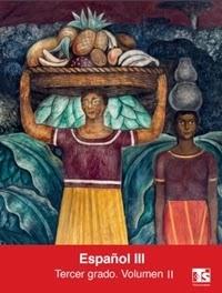 Libro de texto Telesecundaria Español Volumen 2 Tercer grado 2019-2020