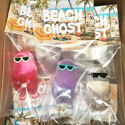 Designer Con 2017 Exclusive Beach Ghost Resin Figures by Sad Salesman