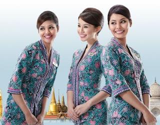 Baju batik pramugari model terbaru untuk maskapai indonesia