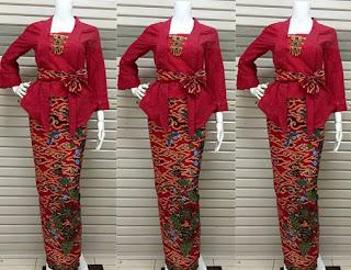 Contoh kebaya batik untuk pramugari modis dan cantik