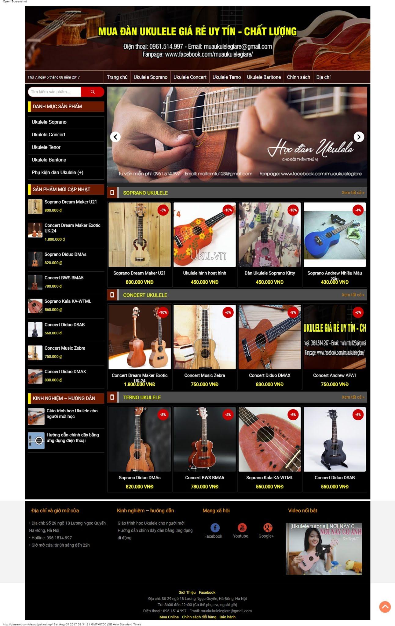 MẪU BÁN HÀNG 048 - đàn guitar