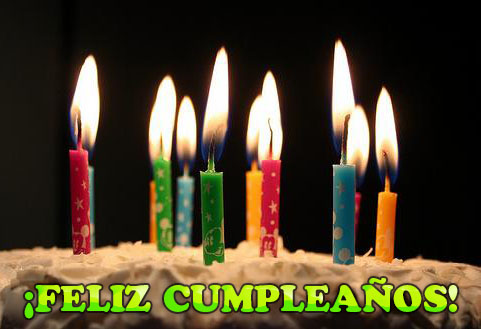 feliz cumpleaños velas