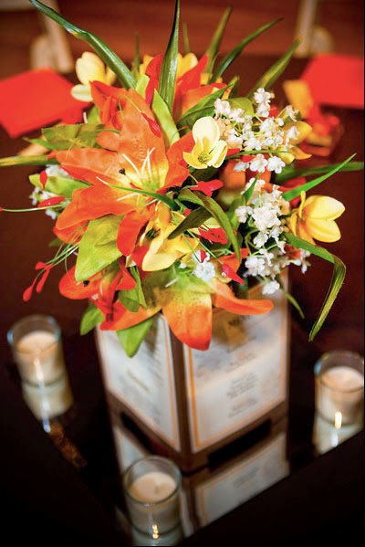 Vibrant fall wedding flowers for your