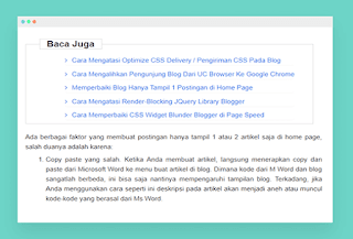 Membuat Artikel Terkait Otomatis di Tengah Postingan Blog