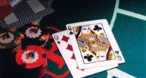 바카라 카드와 칩 테이블