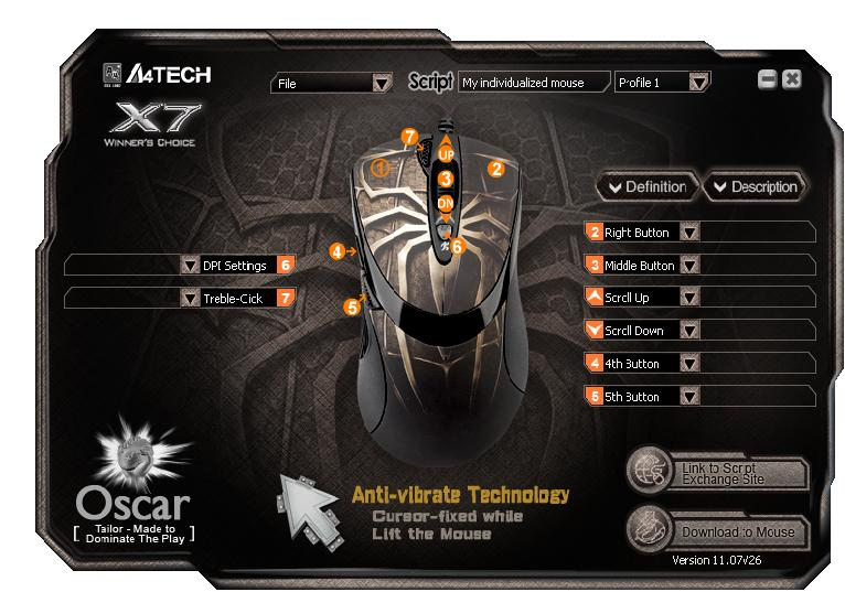 A4 tech x7 oscar download.
