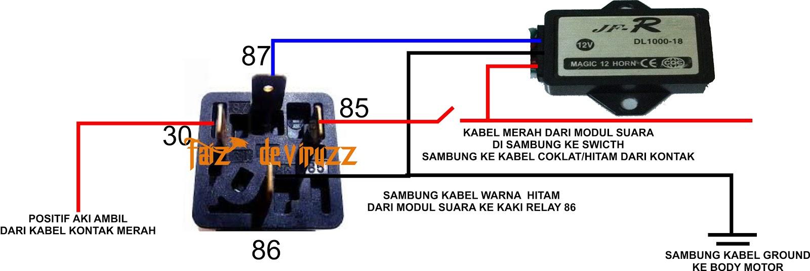 Aero Xriders Indonesia Pasang Klakson Echo 12 Suara Di X Ride Relay Volt 8 Kaki Biar Ga Bingung Nih Saya Kasih Skemanya
