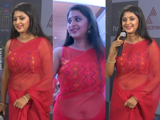 Actress Kanika Latest Hot & Sexy Big Navel Show in Saree