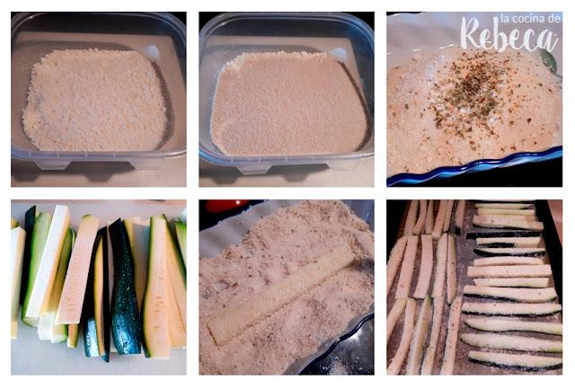 Receta de palitos de calabacín al parmesano: el rebozado