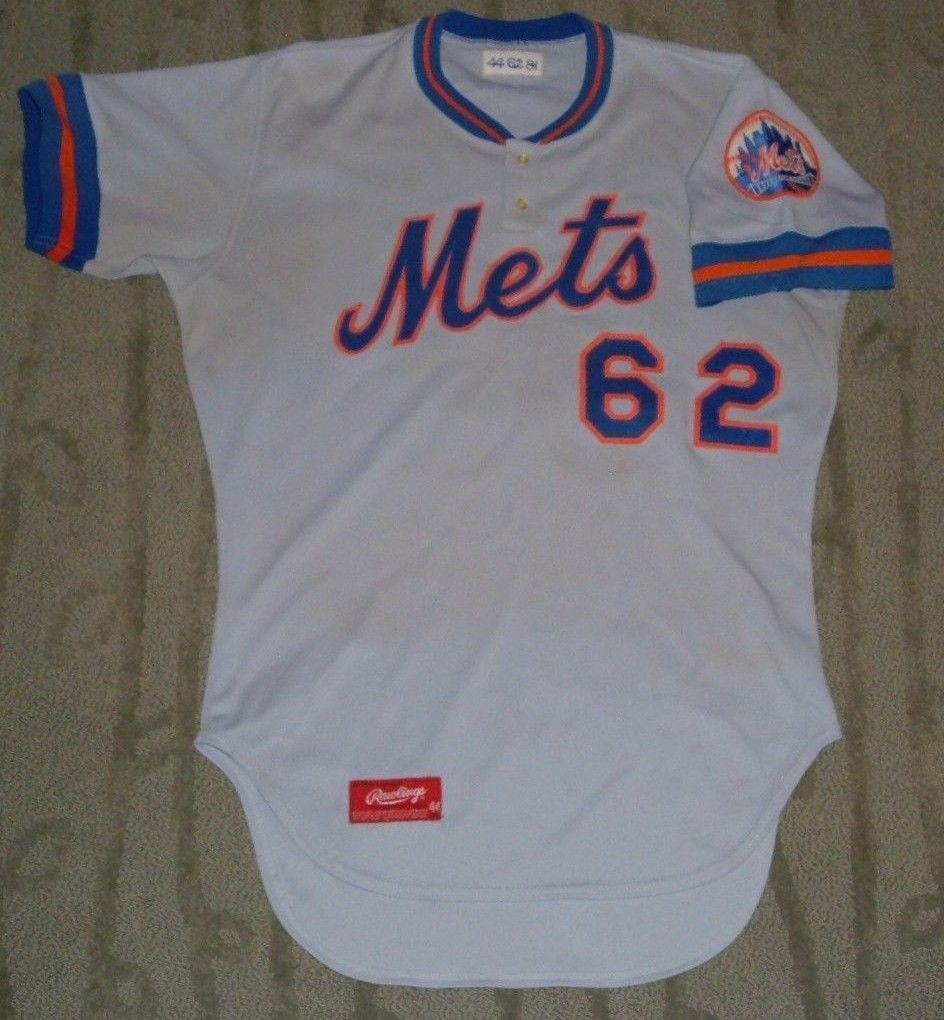 new concept 057f6 c2e9f NEW YORK METS PITCHER MIKE MENDOZA GAME WORN 1981 SPRING