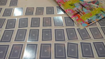 a picture of playing cards turned upside down