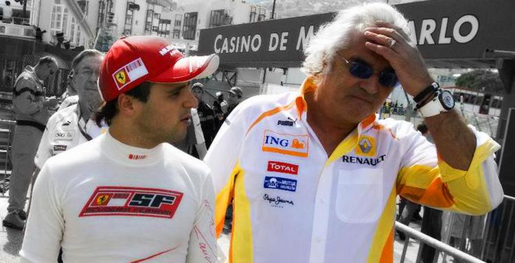 Felipe Massa y Flavio Briatore en Mónaco 2009