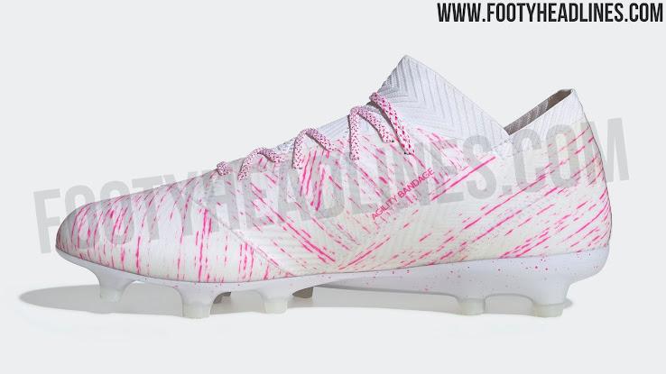 d0fe7b8f6 OFFICIAL Pictures: White / Pink Adidas Nemeziz 'Virtuso Pack' 2019 ...