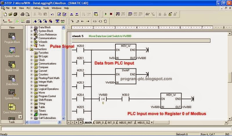 Data Logging in PLC Ladder Programming