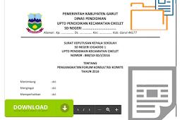 Contoh Surat Keputusan ( SK ) Kepala Sekolah