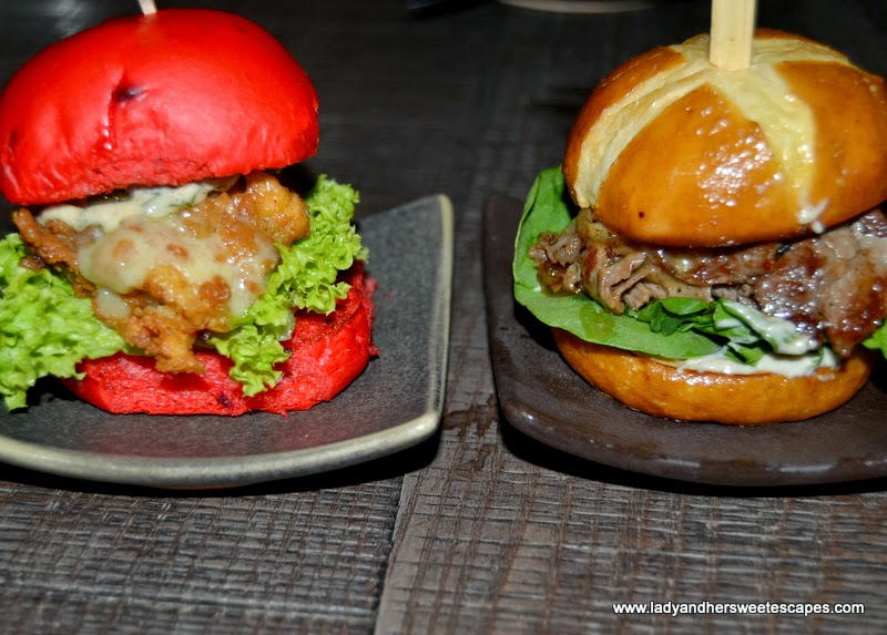 Dangerous and Wagyu Cheese Steak sliders at Slider Station