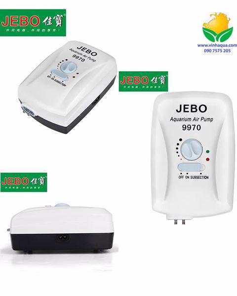 Phụ kiện thủy sinh - máy sủi oxy 2 dòng điện Jebo 9970