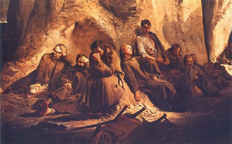 Niedziela w kopalni - Jacek Malczewski