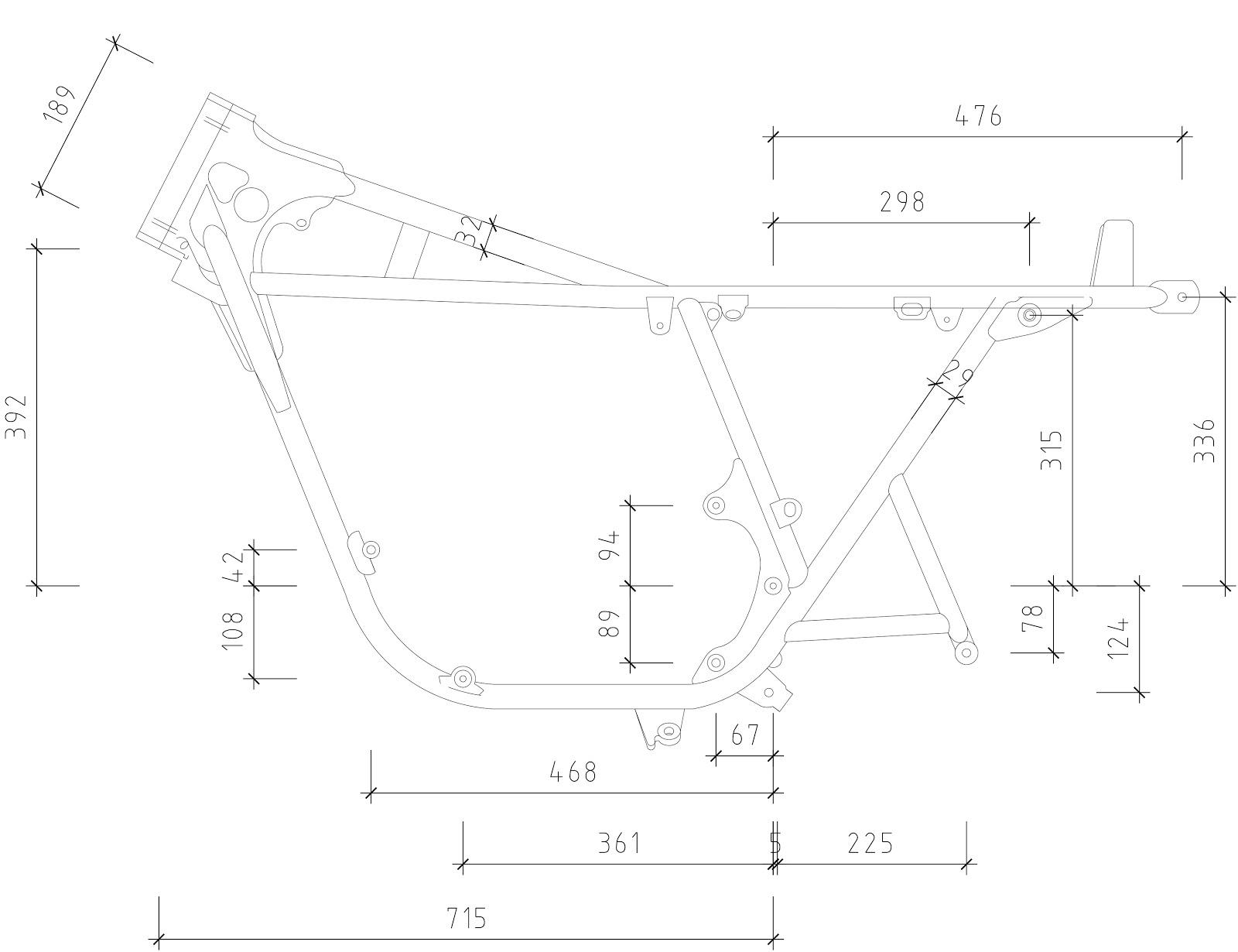 Honda Cb750 Frame Dimensions
