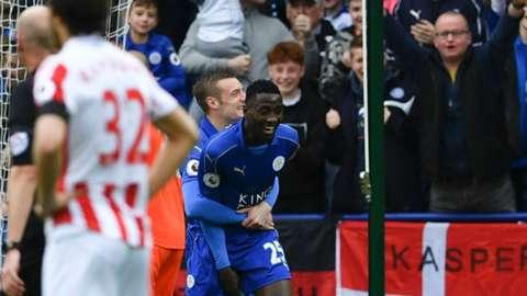 Leicester City goal celebration