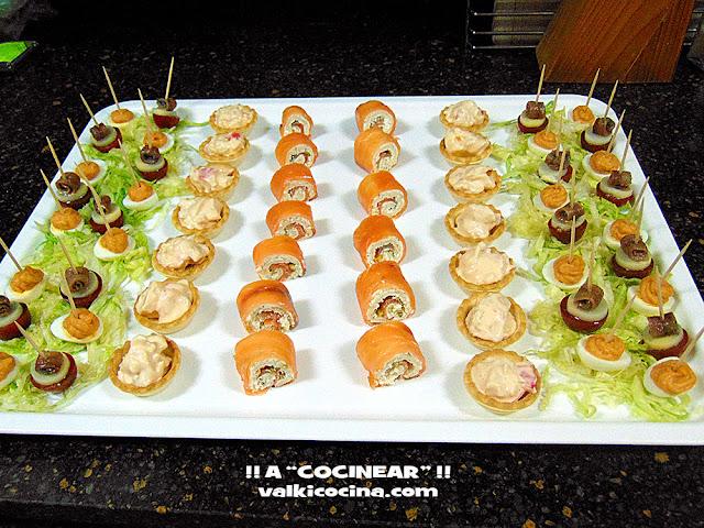 Rolitos de salmón y pan de molde