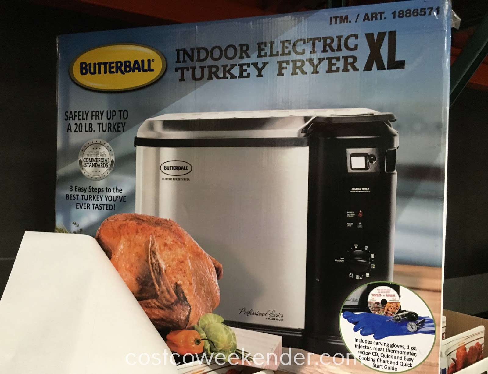 Deep fry a turkey for Thanksgiving with the Butterball 23011815 Indoor Electric Turkey Fryer XL