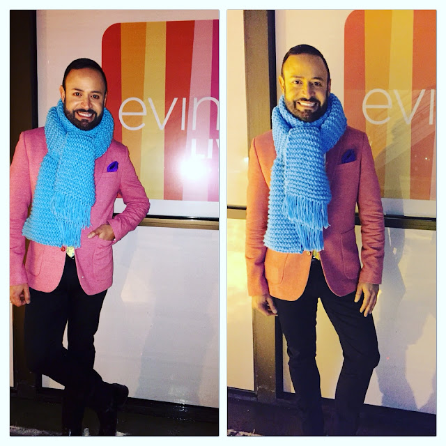 63dcdcfcc7ee0 Scarf Boy  Nick Verreos at EVINE Live TV Shopping Network Headquarters