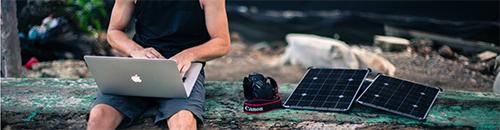 chargeur solaire pour ordinateur portable mac