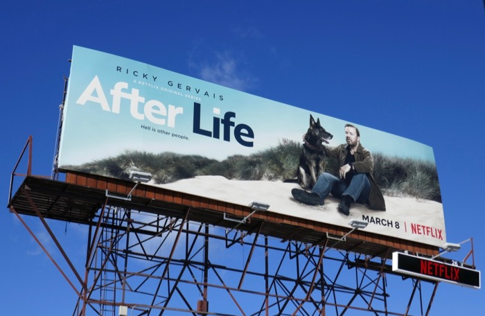 After Life series premiere billboard