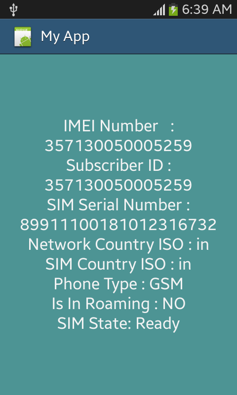 Getting IMEI Number and other Details - Android Tutorials for Beginners