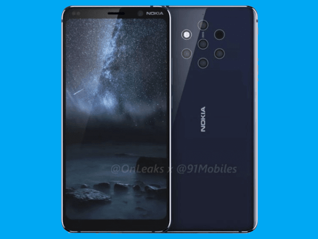 Nokia 9 PureView with Penta Cameras and 18:9 Notch-free Display