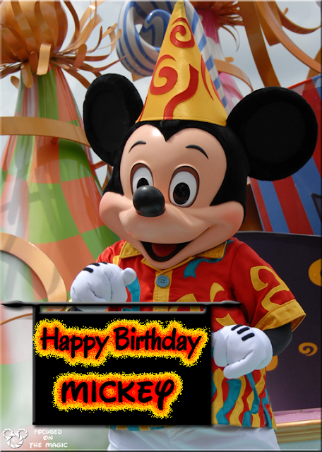 Happy Birthday Mickey Mouse Focused on the Magic