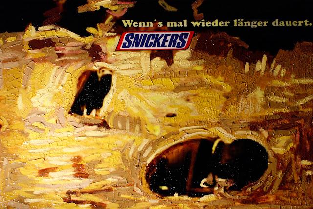 Kris Kind 2011, Snickers, wenn's mal wieder länger dauert, 120 x 80cm