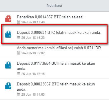 Bukti Withdraw Bitcoin dari Cryptotab