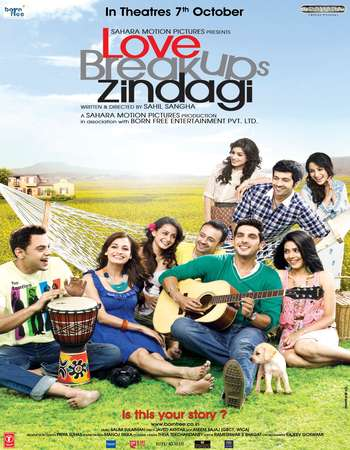 Poster Of Love Breakups Zindagi 2011 Hindi 720p HDRip ESubs Free Download Watch Online