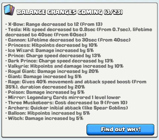 Clash Royale Update March 23, 2016